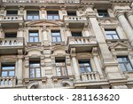 facade of a traditional... | Shutterstock . vector #281163620