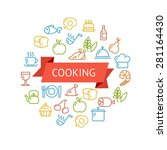 vector illustration cooking... | Shutterstock .eps vector #281164430