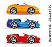 vector illustration. car icons. | Shutterstock .eps vector #281166560