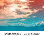 ocean view cloudscape with... | Shutterstock . vector #281168030