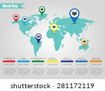 colorful modern infographic... | Shutterstock .eps vector #281172119