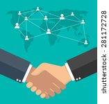 worldwide cooperation concept   ... | Shutterstock .eps vector #281172728