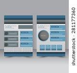 flyer template. business... | Shutterstock .eps vector #281177360