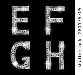 set of shiny diamond letters ... | Shutterstock .eps vector #281179709