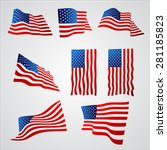 american flag with gradient... | Shutterstock .eps vector #281185823