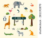animals and zoo | Shutterstock .eps vector #281192870