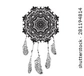 indian dream catcher in a... | Shutterstock .eps vector #281194814