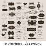set of calligraphic elements... | Shutterstock .eps vector #281195240
