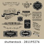 set of calligraphic elements... | Shutterstock .eps vector #281195276