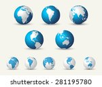 big globe collection | Shutterstock .eps vector #281195780