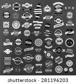 set of retro vintage labels ... | Shutterstock .eps vector #281196203