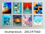 set of poster  flyer  brochure... | Shutterstock .eps vector #281197460