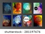 set of poster  flyer  brochure... | Shutterstock .eps vector #281197676