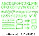 large set. alphabet  numbers ... | Shutterstock .eps vector #281200844