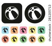 beach ball icon. ball icon | Shutterstock .eps vector #281205713