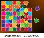 jigsaw vector | Shutterstock .eps vector #281205923