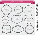 set of vector elements for... | Shutterstock .eps vector #281209340