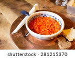 Soup With Tomatoes And Bread  ...