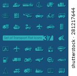 set of transport flat icons for ... | Shutterstock .eps vector #281217644