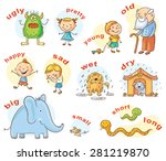 cartoon characters illustrating ... | Shutterstock .eps vector #281219870