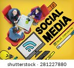 social media social networking... | Shutterstock . vector #281227880