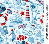 vector nautical and marine... | Shutterstock .eps vector #281233850