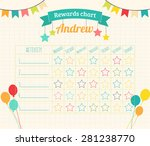 kids rewards chart with tags ... | Shutterstock .eps vector #281238770
