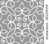seamless pattern in arabic... | Shutterstock .eps vector #281239259