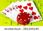 Casino gambling chips and royal ...