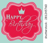 happy birthday card vector. | Shutterstock .eps vector #281245760