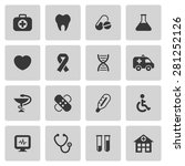 medical icons set | Shutterstock . vector #281252126