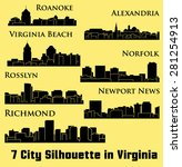 7 city in virginia   richmond ... | Shutterstock .eps vector #281254913