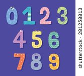 numbers character | Shutterstock .eps vector #281258813