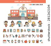 school and education... | Shutterstock .eps vector #281262104