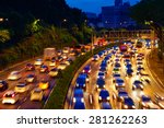heavy traffic moving on the... | Shutterstock . vector #281262263