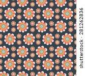 seamless floral pattern.... | Shutterstock . vector #281262836