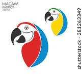 Parrot Macaw. Logo. Isolated...