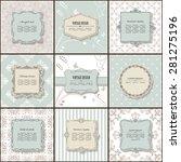 elegant frame on pattern set in ... | Shutterstock .eps vector #281275196