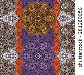 seamless pattern ethnic style.... | Shutterstock .eps vector #281280056