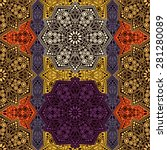 seamless pattern ethnic style.... | Shutterstock .eps vector #281280089