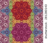 seamless pattern ethnic style.... | Shutterstock .eps vector #281280143