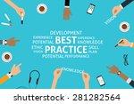 vector best practice concept... | Shutterstock .eps vector #281282564
