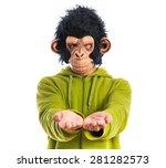 Monkey Man Holding Something