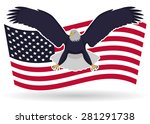 blue eagle with flag | Shutterstock .eps vector #281291738