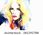 woman portrait .abstract... | Shutterstock . vector #281292788