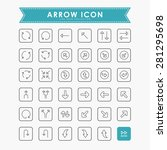 arrow outline icons | Shutterstock .eps vector #281295698