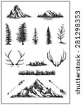 mountain nature tree vector... | Shutterstock .eps vector #281298353