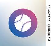 baseball ball sign icon. sport... | Shutterstock .eps vector #281299478