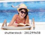 portrait of beautiful young... | Shutterstock . vector #281299658