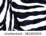 Texture Of Zebra Print Fabric.
